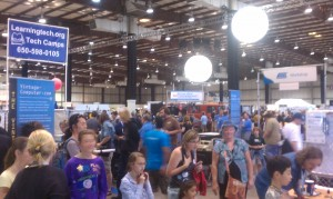 Maker Faire exhibit hall
